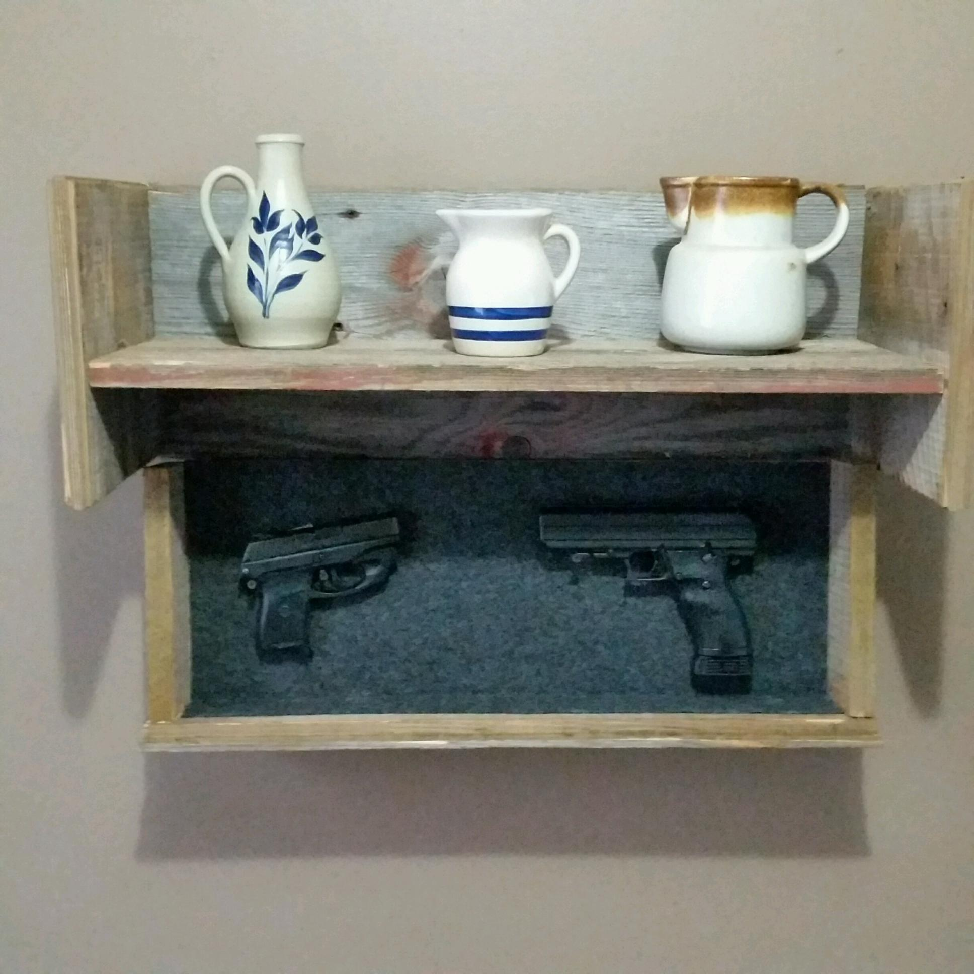 Barn Wood Conceal Shelf