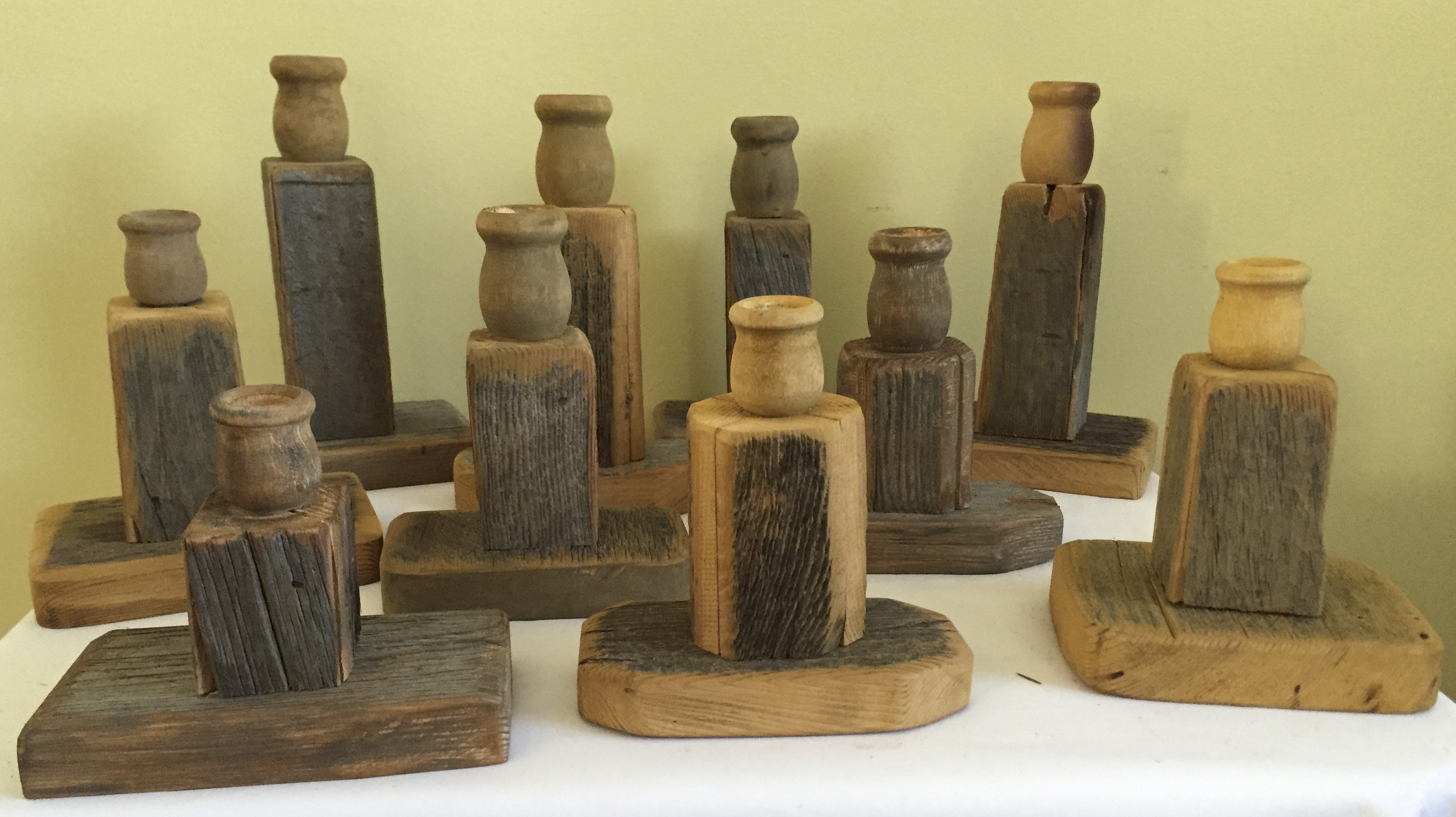 Barn Wood Candle Sticks