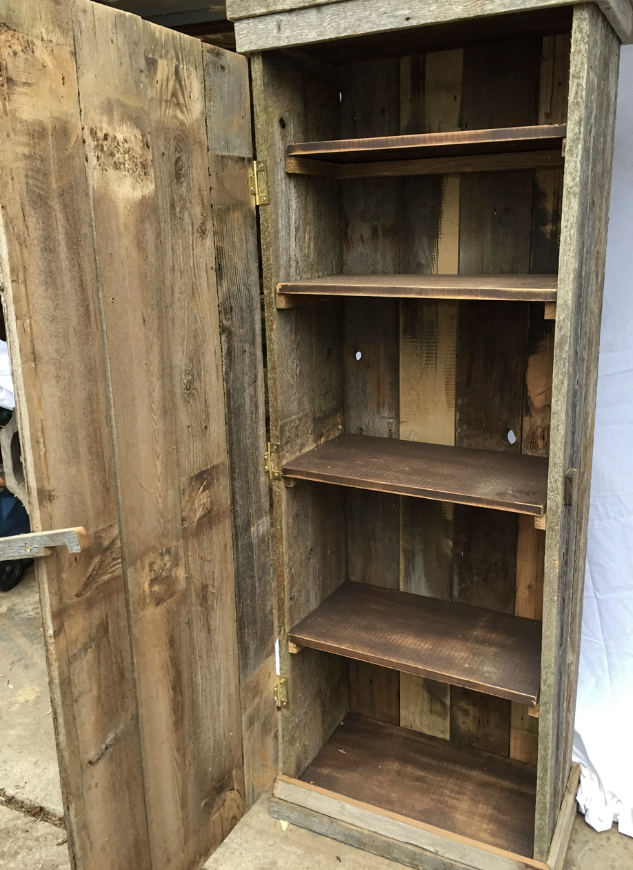Rustic Barn Door Cabinet