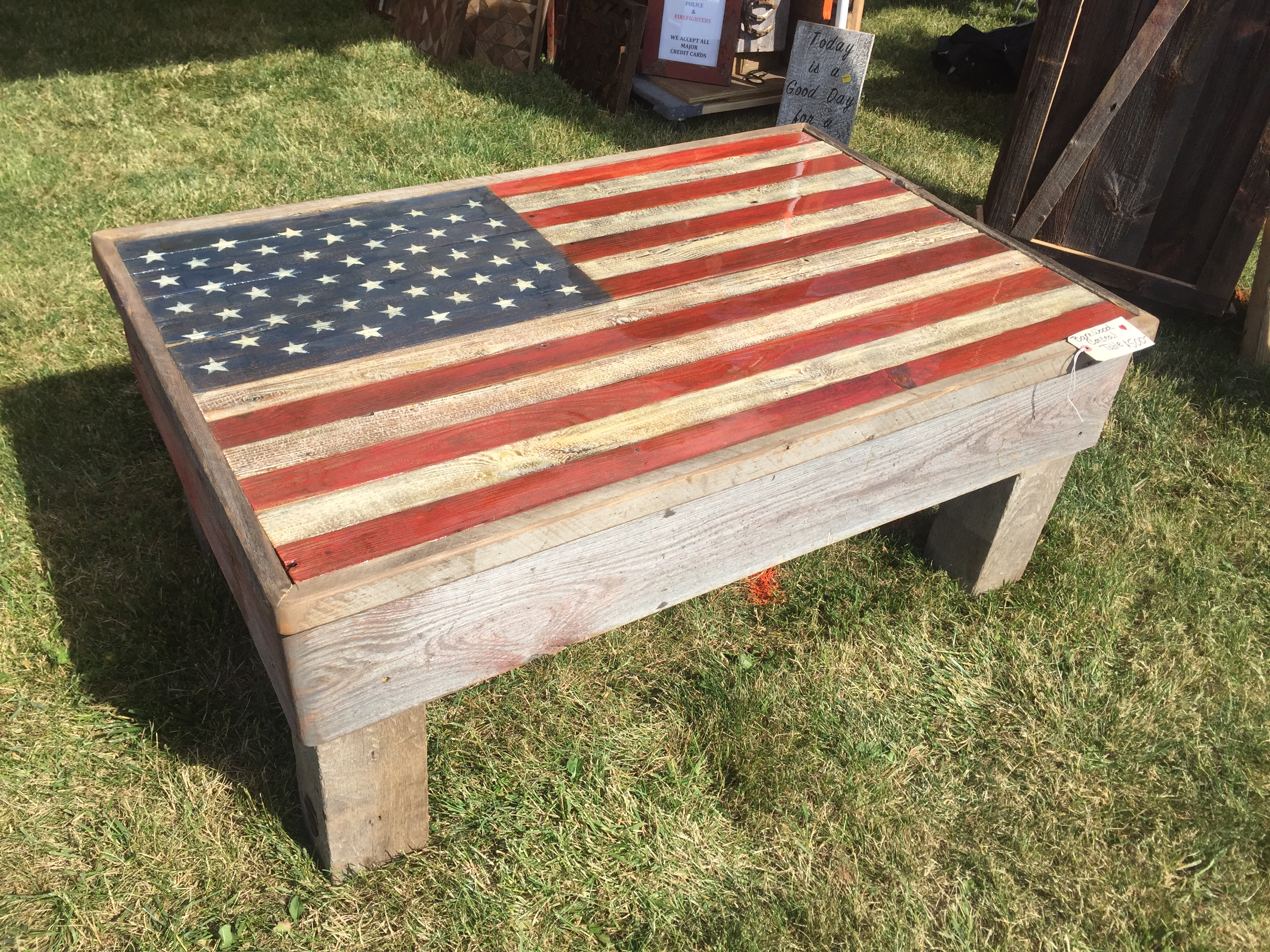 American Flag Barn Wood Coffee Table