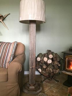Rustic Barn Wood Octagon Floor Lamp