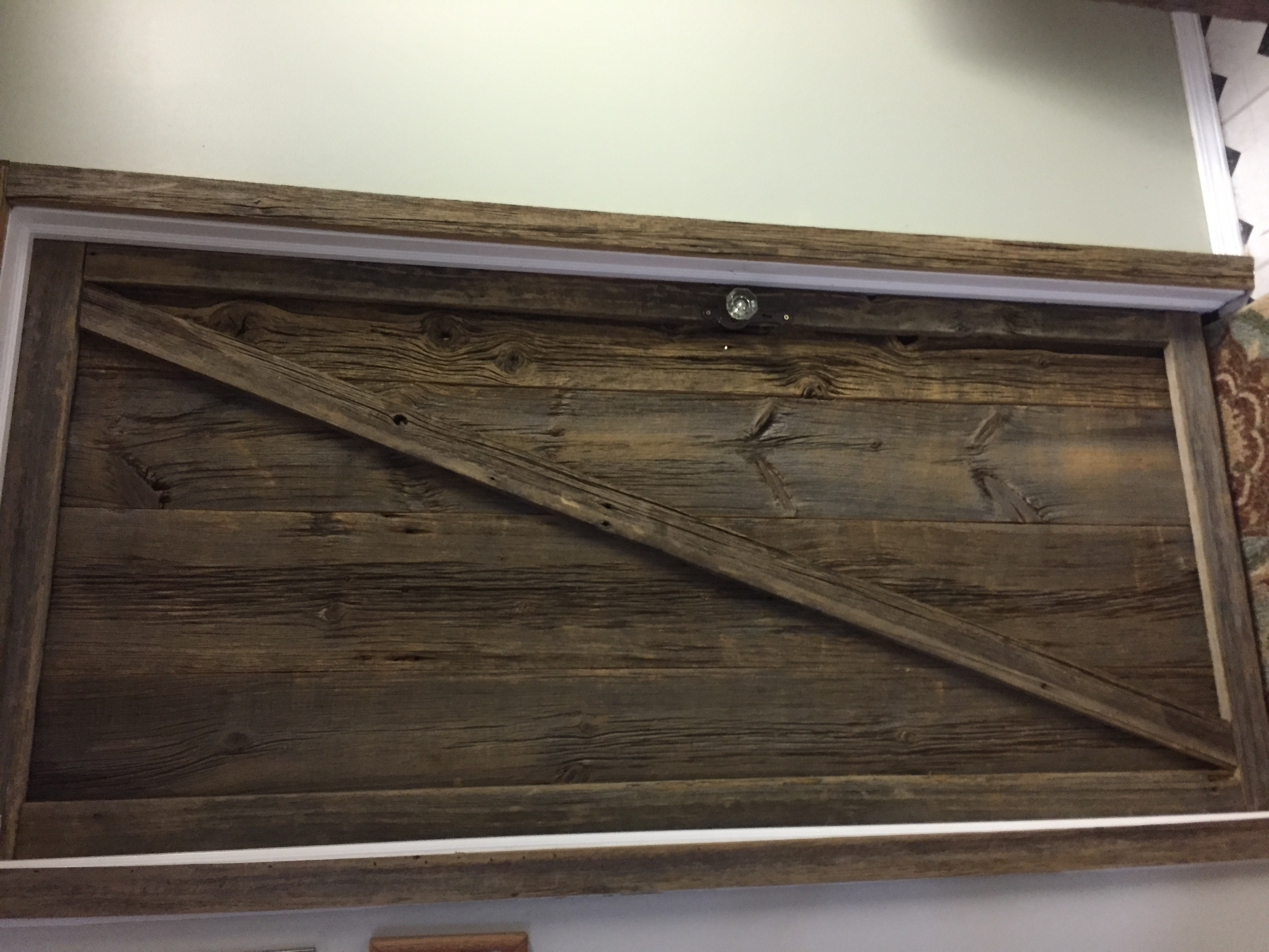 Rustic Interior Barn Wood Door