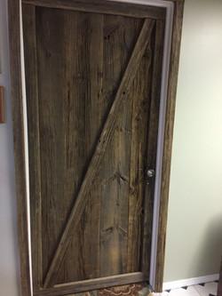 Rustic Interior Barn Wood Door