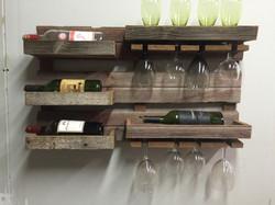 Barn Wood Wine Wall Rack