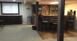 Finished 10' Wet Bar w/Wine Cabinet