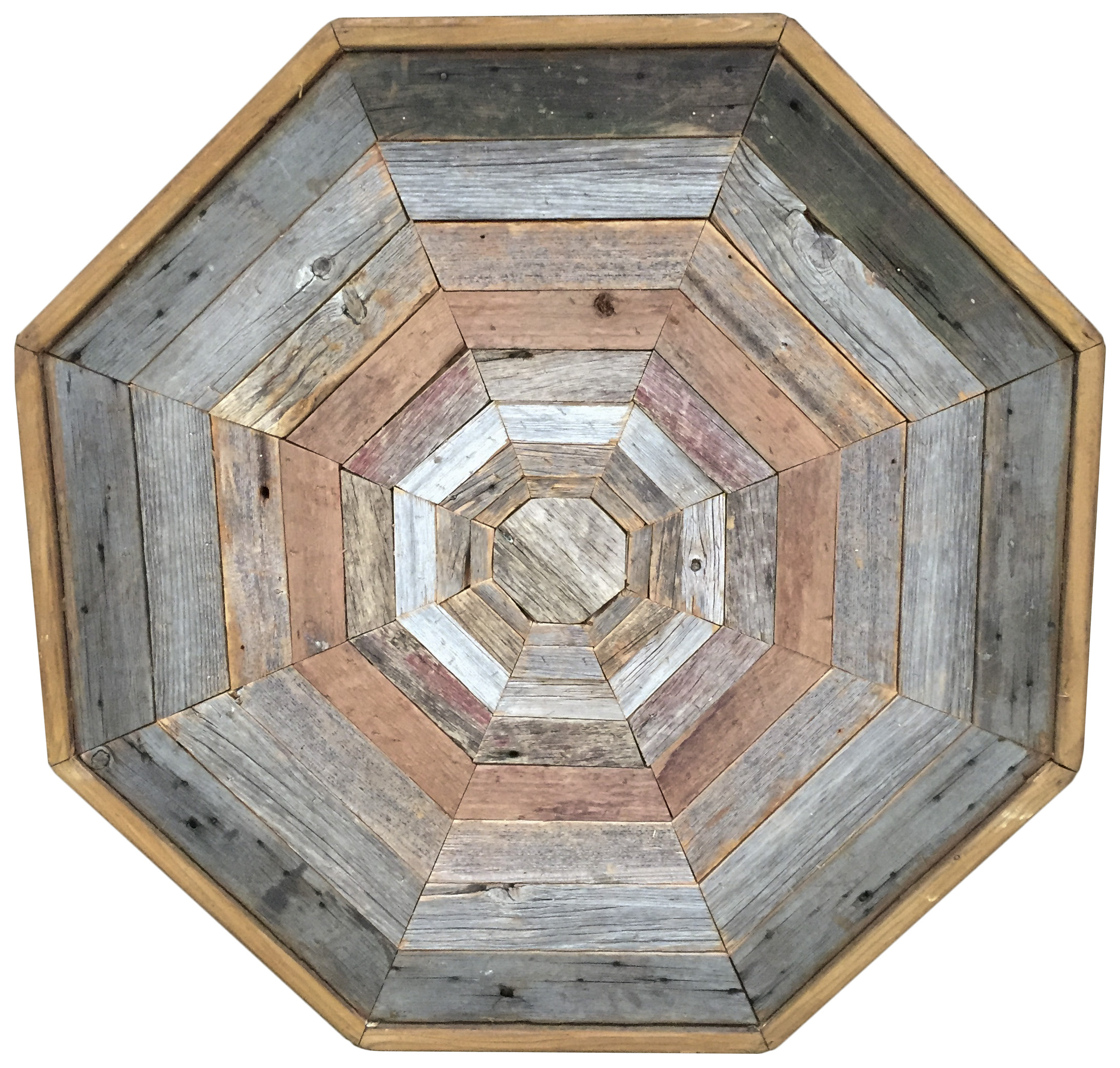 Barn Wood Octagon Coffee Table