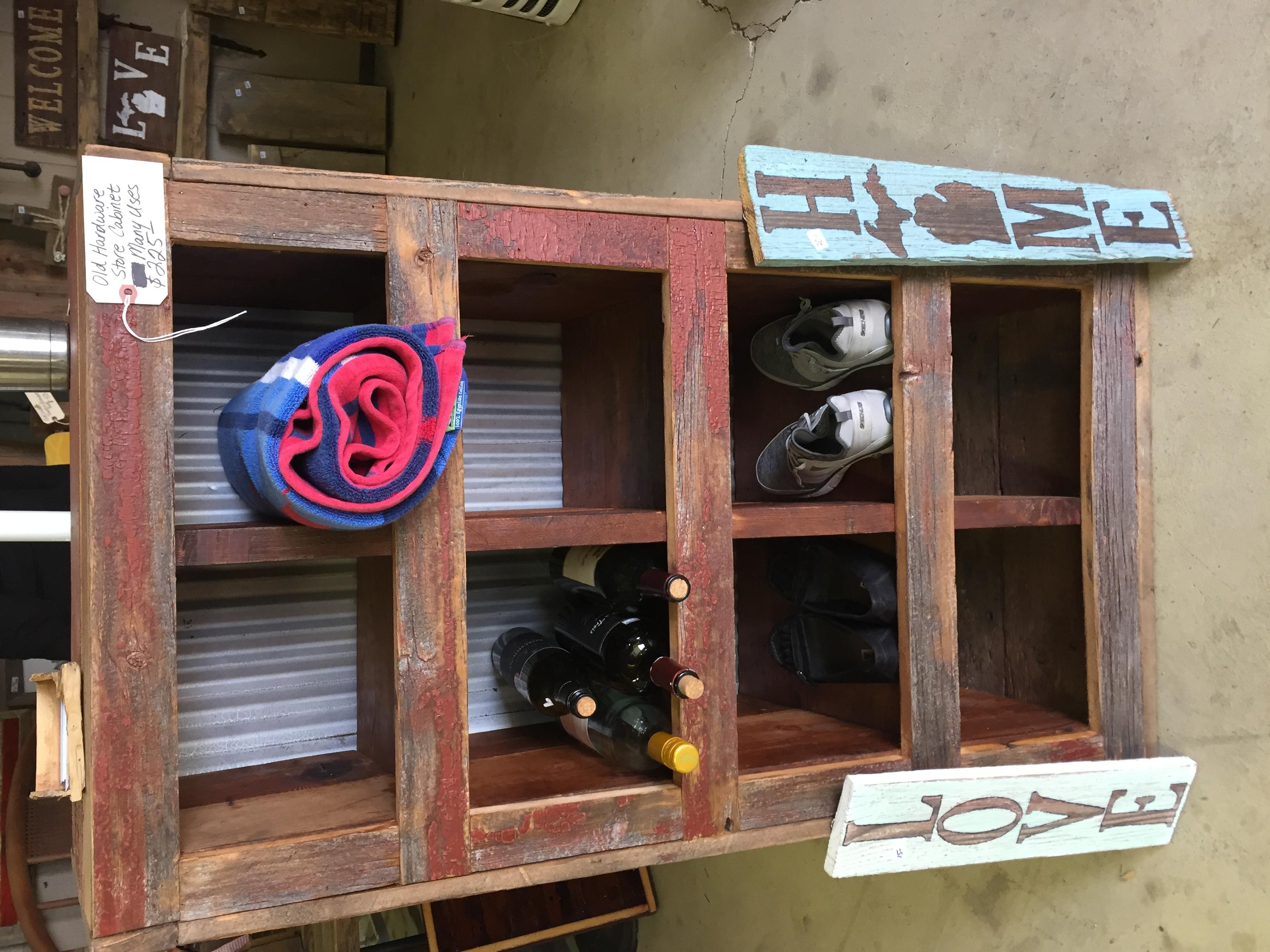 Barnwood  Cubby Cabinet