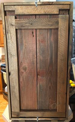 Barn wood Murphy Bar Closed w/Table