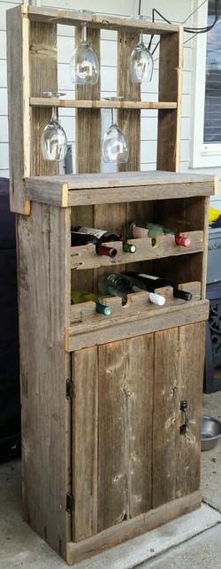 Barn Wood Wine Cabinet