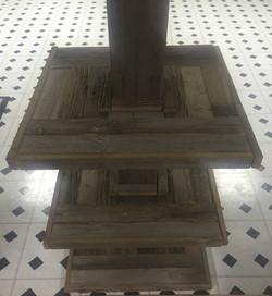 Barn Wood Basement Pole Table
