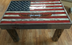 Barn wood Harley Davidson Table