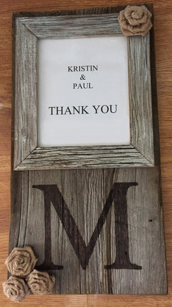 Burned Initial Picture Frame