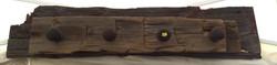 Rustic Ax Cut Beam Coat Rack