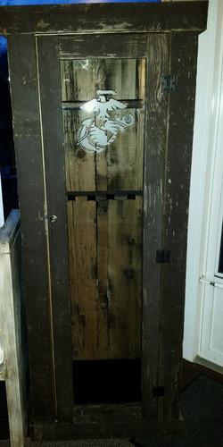 Rustic Brown Barn Wood Gun Cabinet