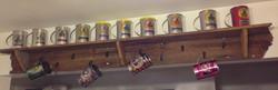 Display Shelf with Hooks
