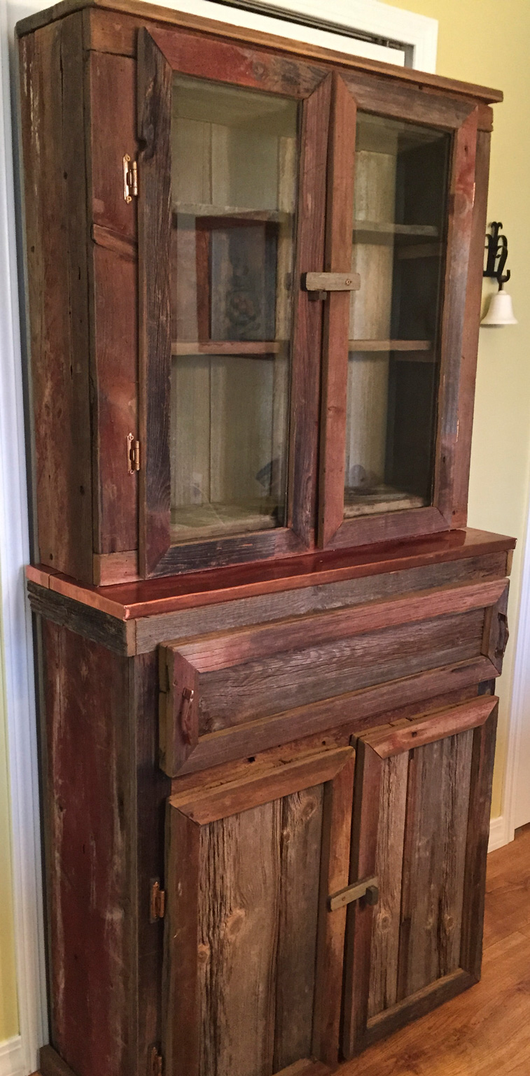 Rustic Hutch with Copper Top