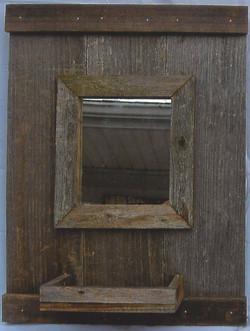 Square Mirror Coat Rack w/shelf