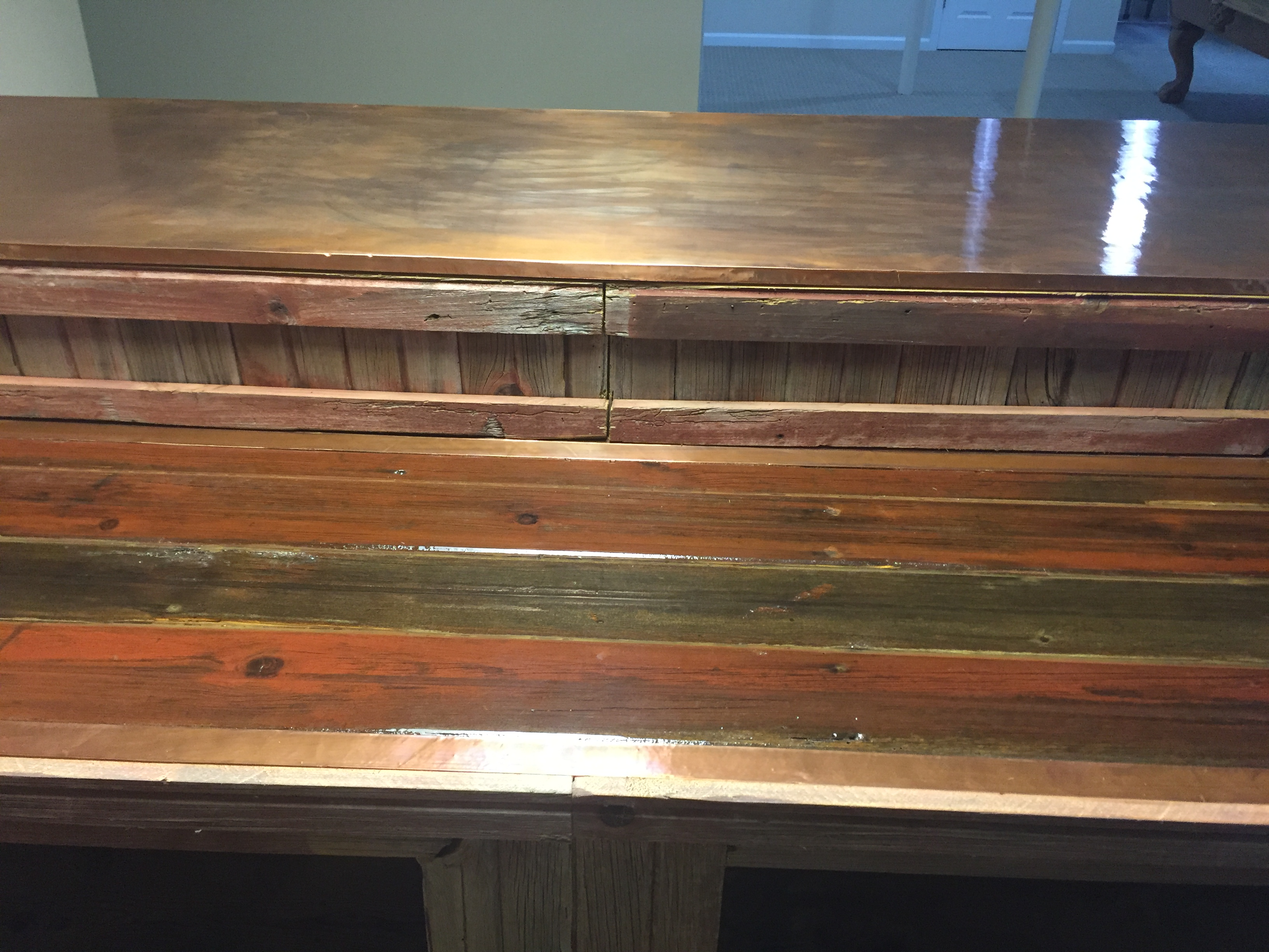 Barn Wood Bar Counter w/Epoxy