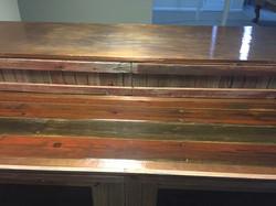 Barn Wood Bar Counter w/Epoxy