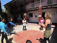 Jongleren in Peru met Marjella Rooduijn