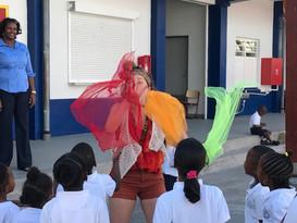 Clownerie en circusles Sint Maarten