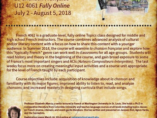 Teaching French Culture: Online Course Opportunity