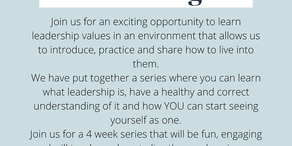 iChoose Program! Leadership sessions.