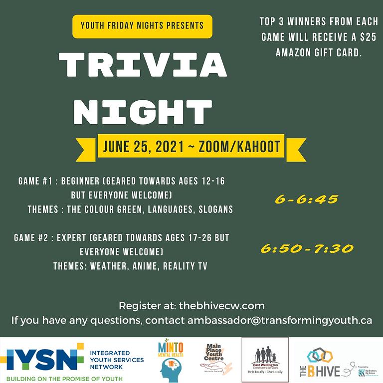 Youth Friday Night! TRIVIA