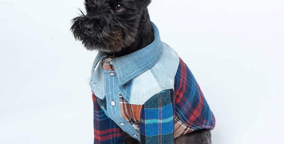 デニチェックシャツ(愛犬用シャツ)