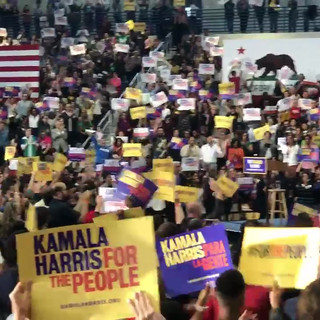 Kamala Harris' first public campaign stop in LA