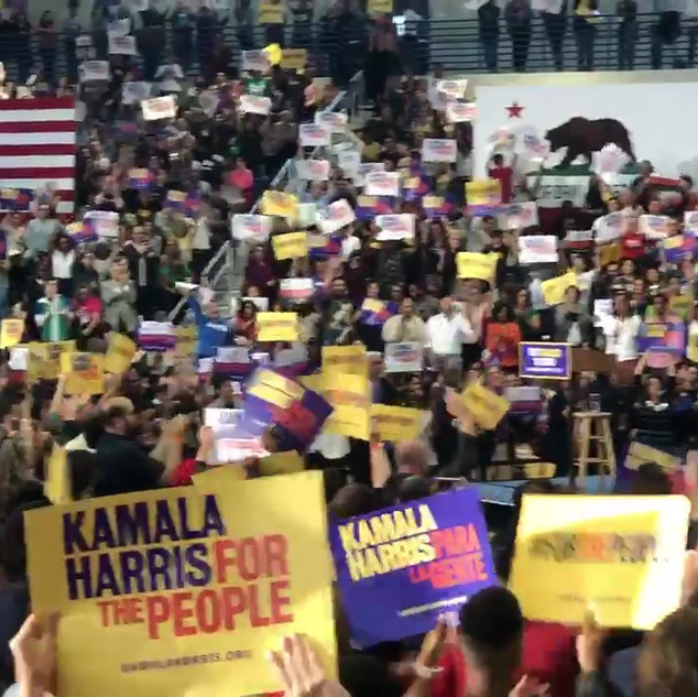 Kamala Harris' first public campaign stop in LA