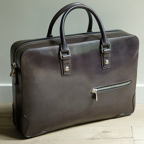 Briefcase in Italian leather