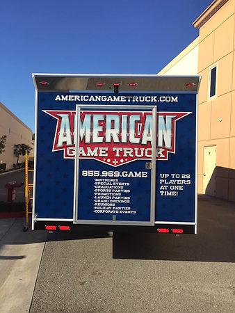 American Game Truck Back Side