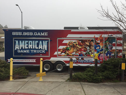 American Game Truck Outside TVs