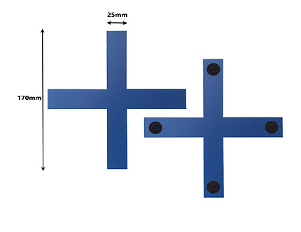 BOX OF 100 Blue Cross Tracking Markers 170mm