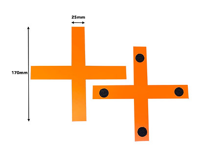 BOX OF 100 Orange Cross Tracking Markers 170mm