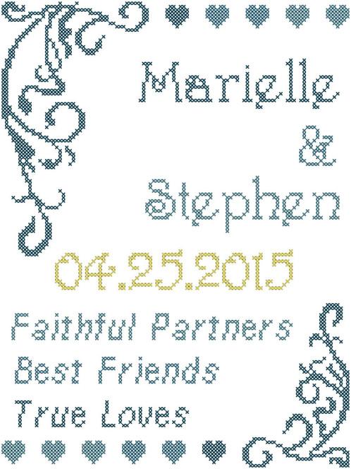Wedding Cross Stitch Pattern