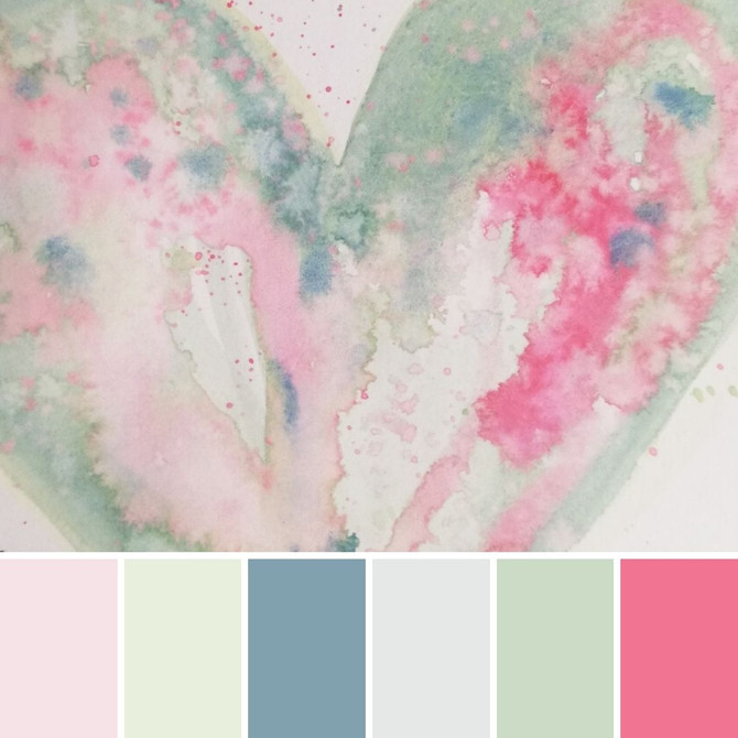 Colour palette inspiration- from the heart