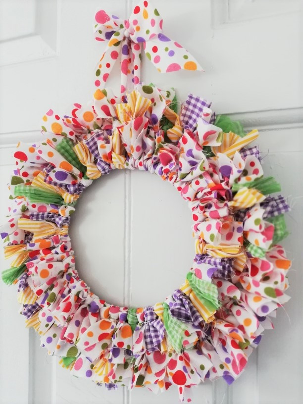 Fabric wreath- craft project