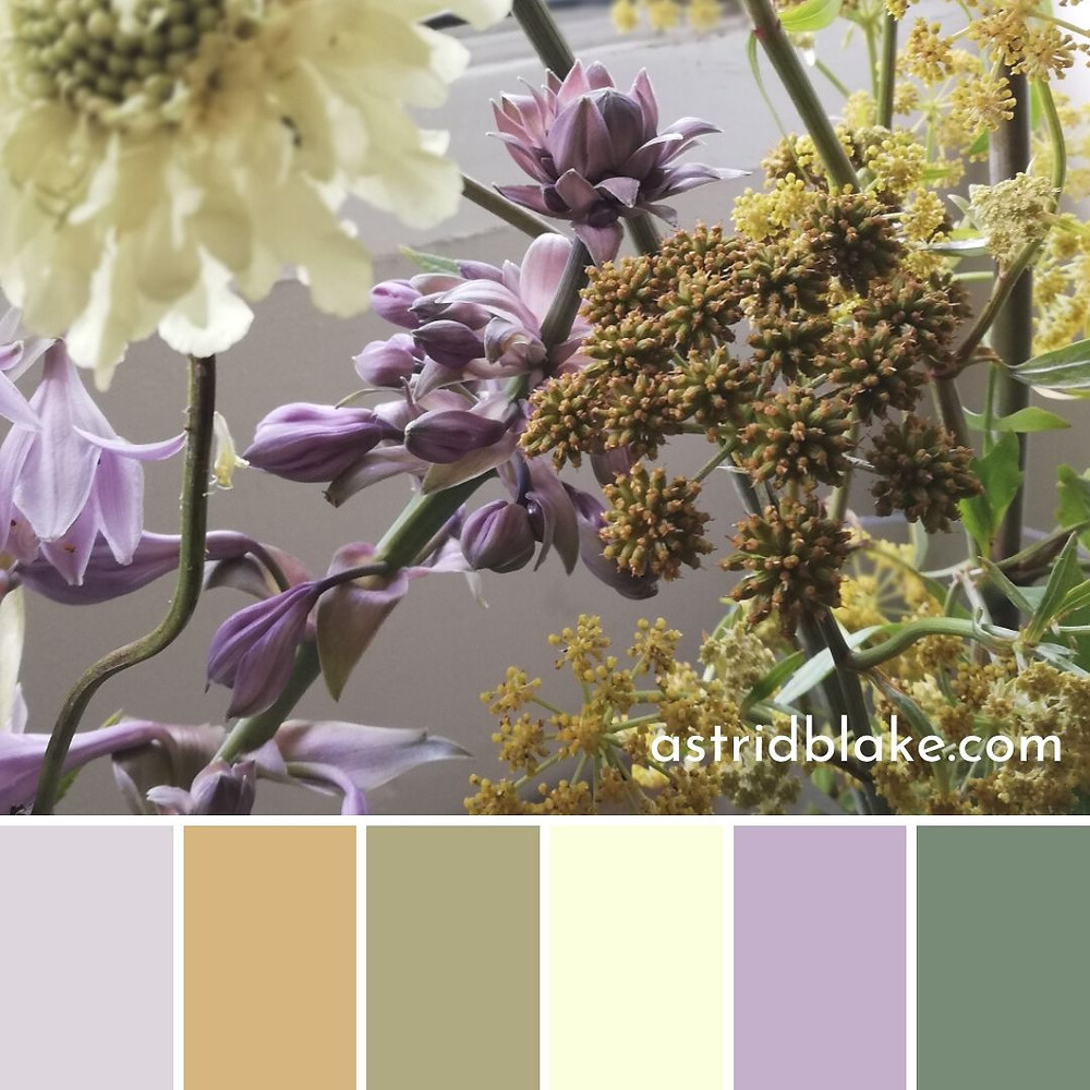 Colour palette inspiration by Astrid Blake interiors and fashion