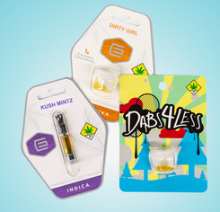 Emerald City Cultivation live resin vape cartridge, ECC live resin extract, and Dabs 4 Less trim run dabs