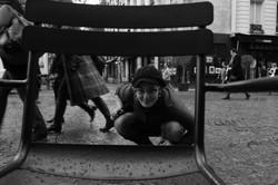 Angeline, in the street...Paris