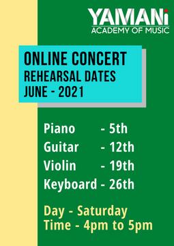 Concert Rehearsal Dates