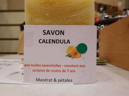 savon CALENDULA – HE lavandin/lemongrass/listée 100g surgras 10%