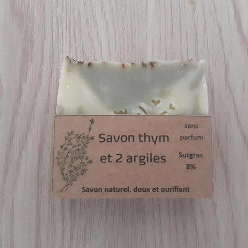 Savon au Thym/argiles