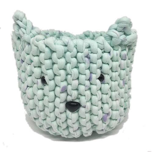 Panier chat au tricot