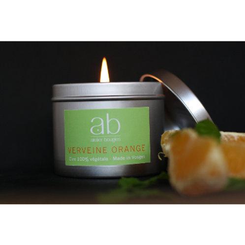 Bougie artisanale cire végétale parfumée - Boite métallique -