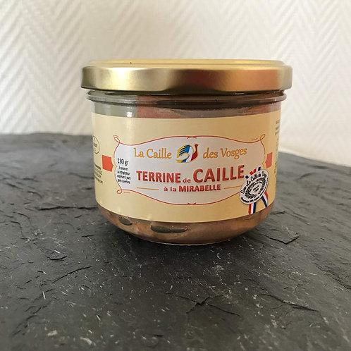Terrine de Caille à la Mirabelle
