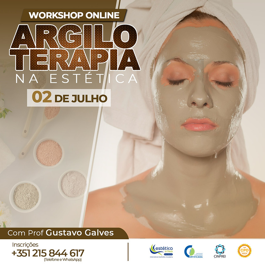 Workshop - Argiloterapia Facial e Corporal