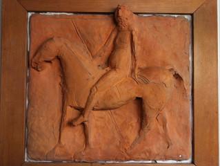 Terracotta relief Marino Marini